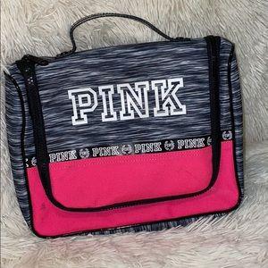 Pink Waterproof Hook Cosmetic Storage Bag
